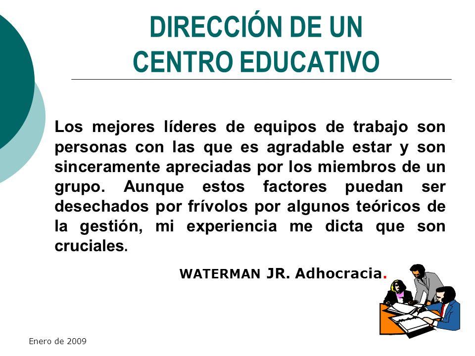 DIRECCIÓN DE UN CENTRO EDUCATIVO