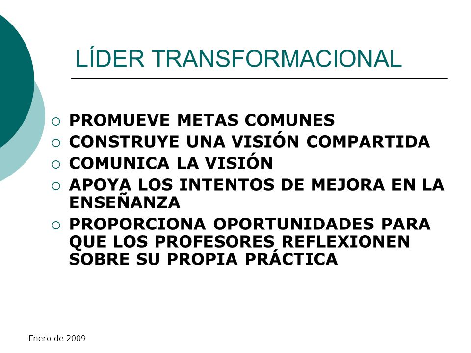 LÍDER TRANSFORMACIONAL