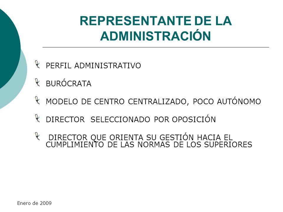 REPRESENTANTE DE LA ADMINISTRACIÓN