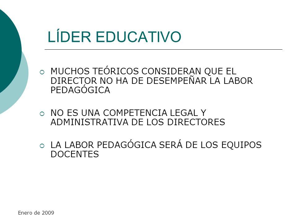 LÍDER EDUCATIVO MUCHOS TEÓRICOS CONSIDERAN QUE EL DIRECTOR NO HA DE DESEMPEÑAR LA LABOR PEDAGÓGICA.