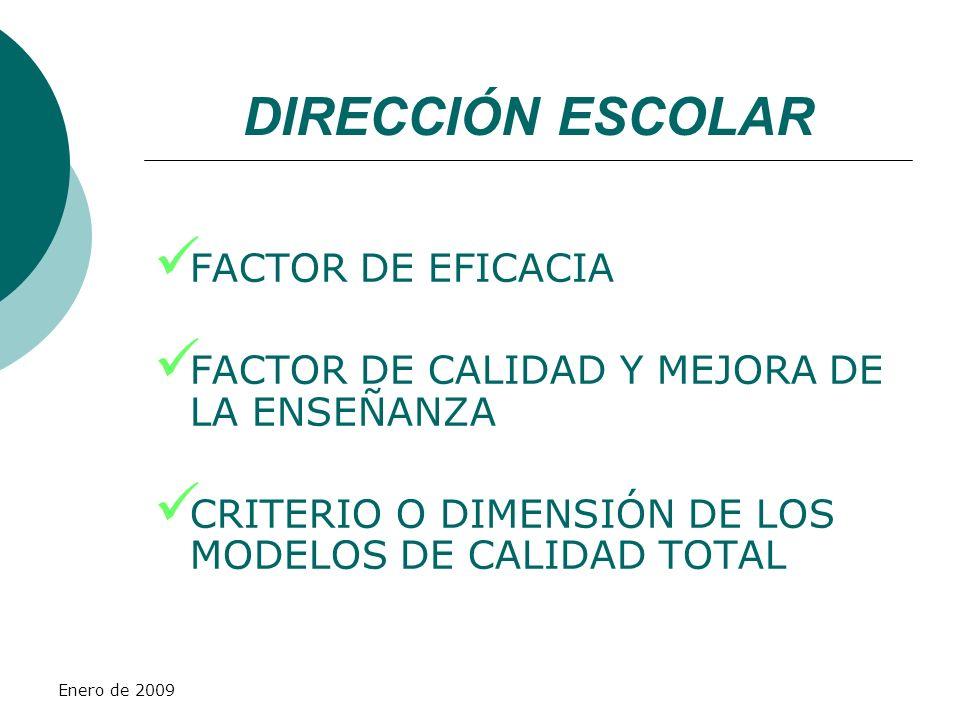 DIRECCIÓN ESCOLAR FACTOR DE EFICACIA