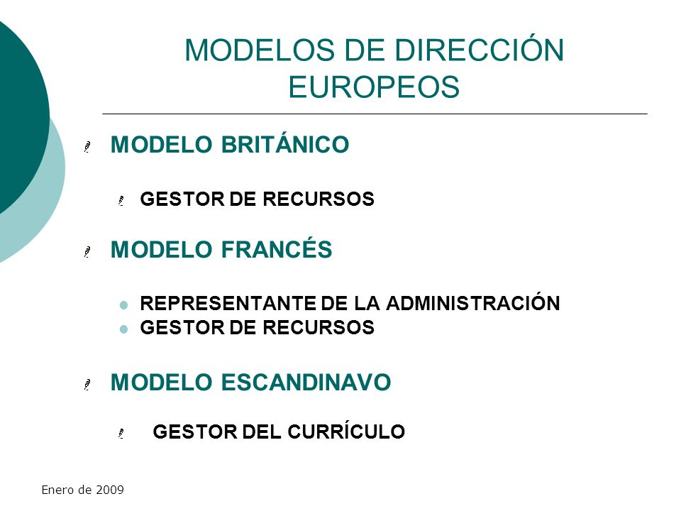 MODELOS DE DIRECCIÓN EUROPEOS