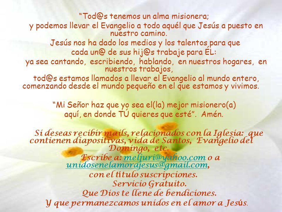 Tod@s tenemos un alma misionera;
