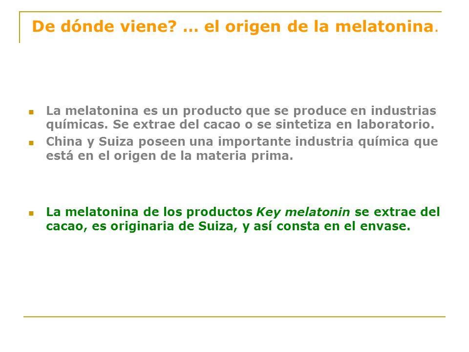 De dónde viene … el origen de la melatonina.