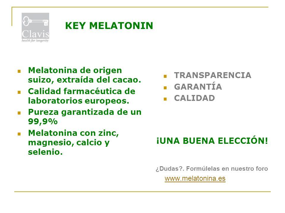KEY MELATONIN ¡UNA BUENA ELECCIÓN! TRANSPARENCIA