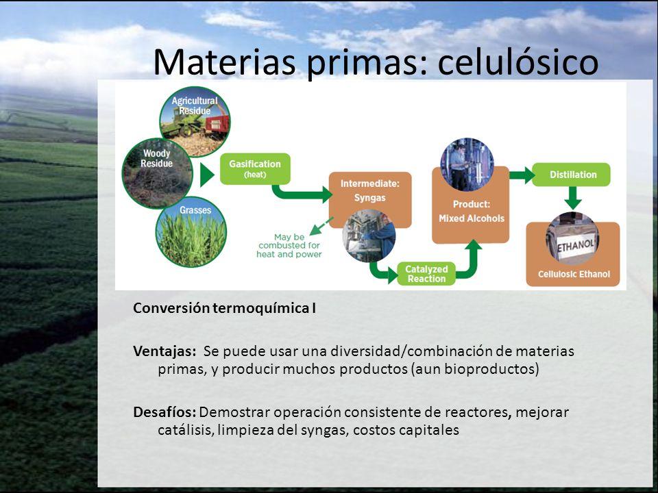 Materias primas: celulósico