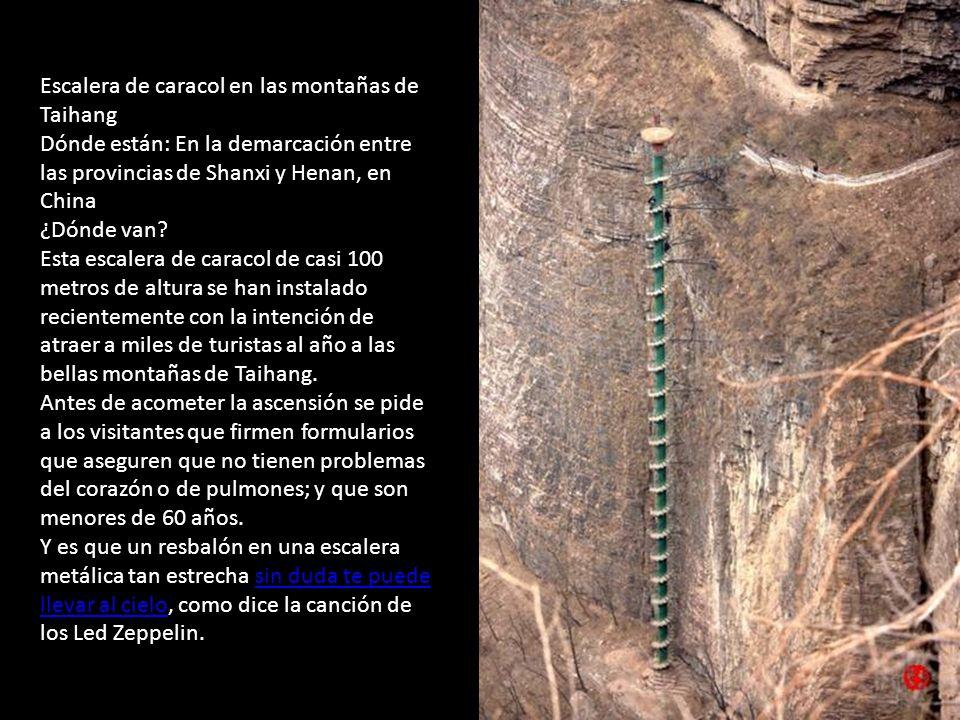 Escalera de caracol en las montañas de Taihang Dónde están: En la demarcación entre las provincias de Shanxi y Henan, en China ¿Dónde van.