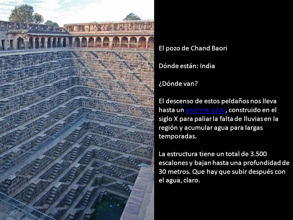 El pozo de Chand Baori Dónde están: India ¿Dónde van