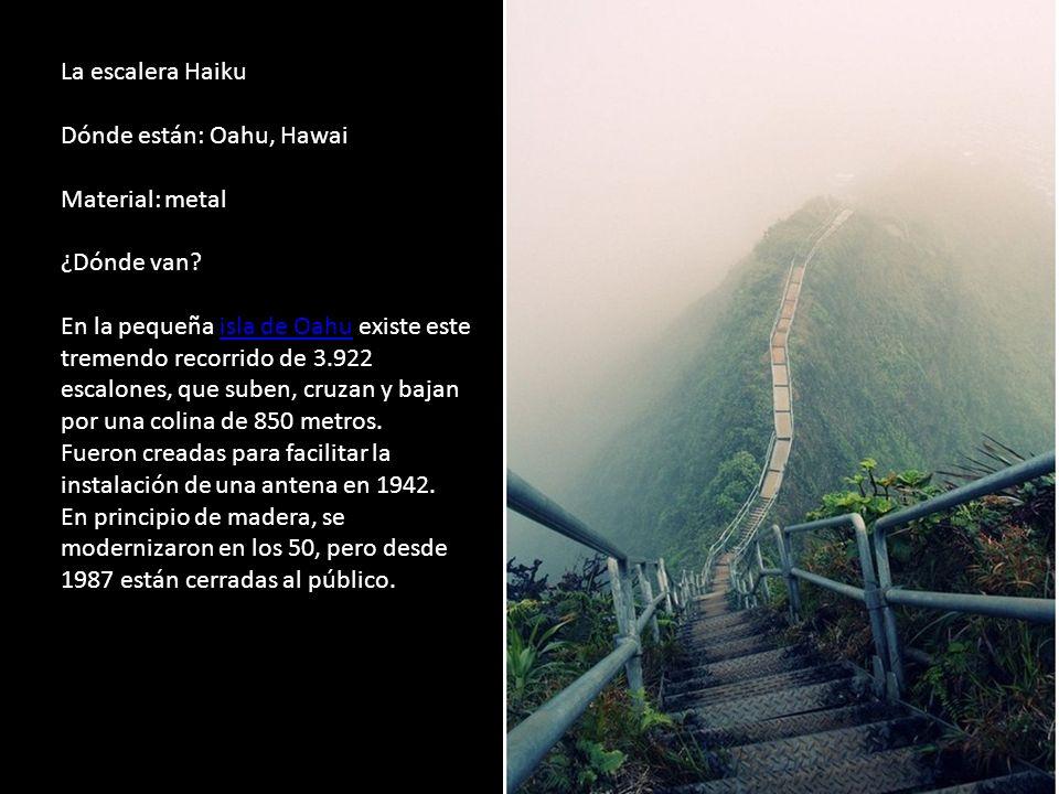La escalera Haiku Dónde están: Oahu, Hawai