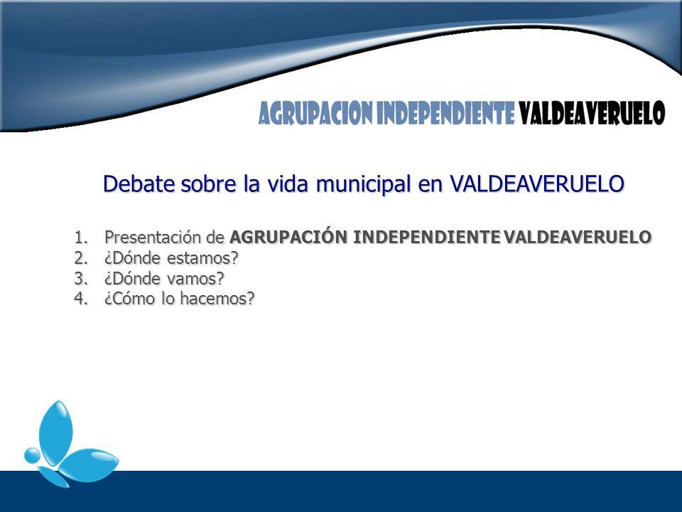 Debate sobre la vida municipal en VALDEAVERUELO