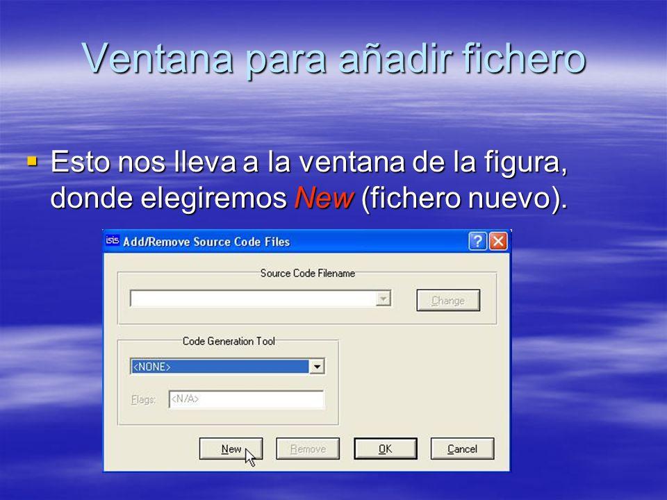 Ventana para añadir fichero