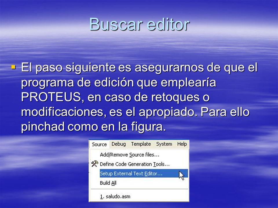 Buscar editor