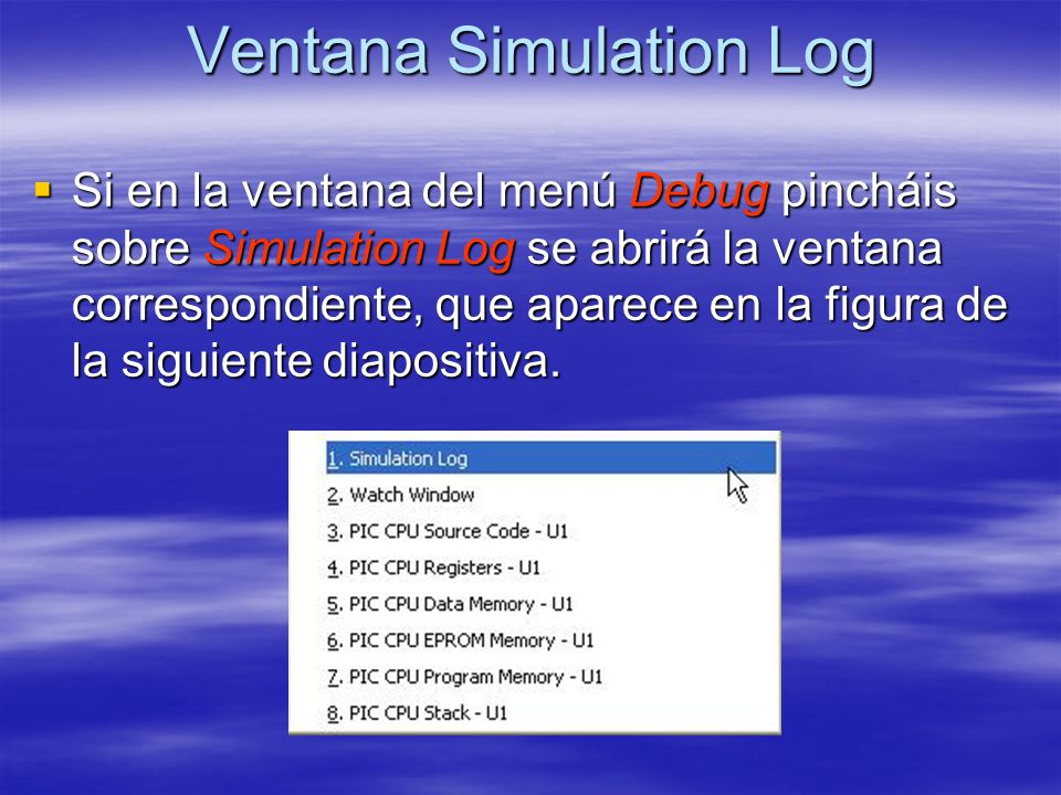 Ventana Simulation Log