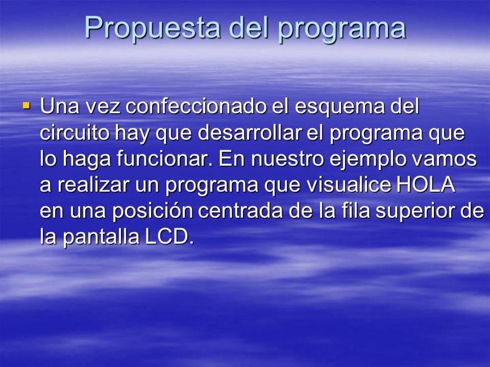 Propuesta del programa