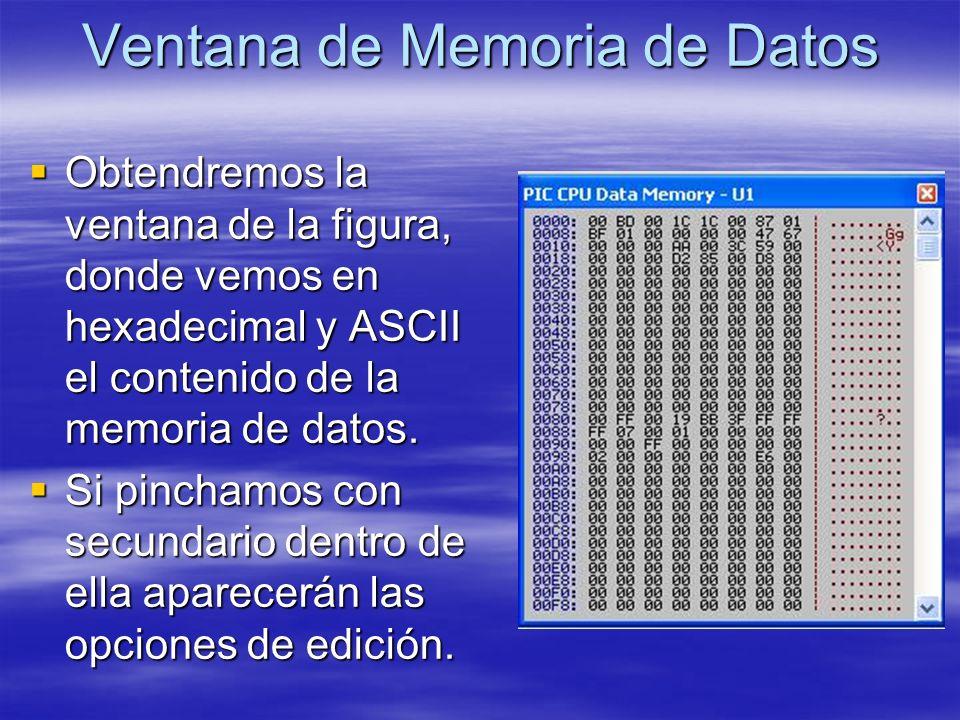 Ventana de Memoria de Datos