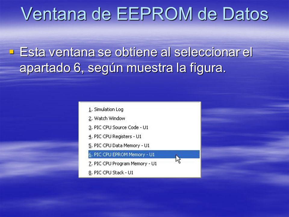 Ventana de EEPROM de Datos