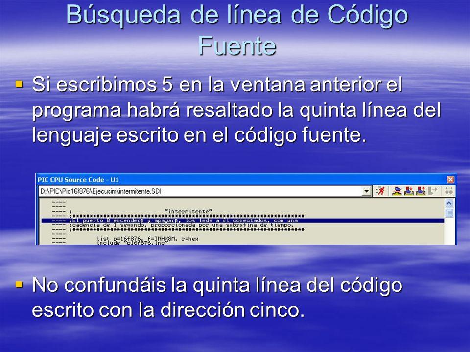 Búsqueda de línea de Código Fuente
