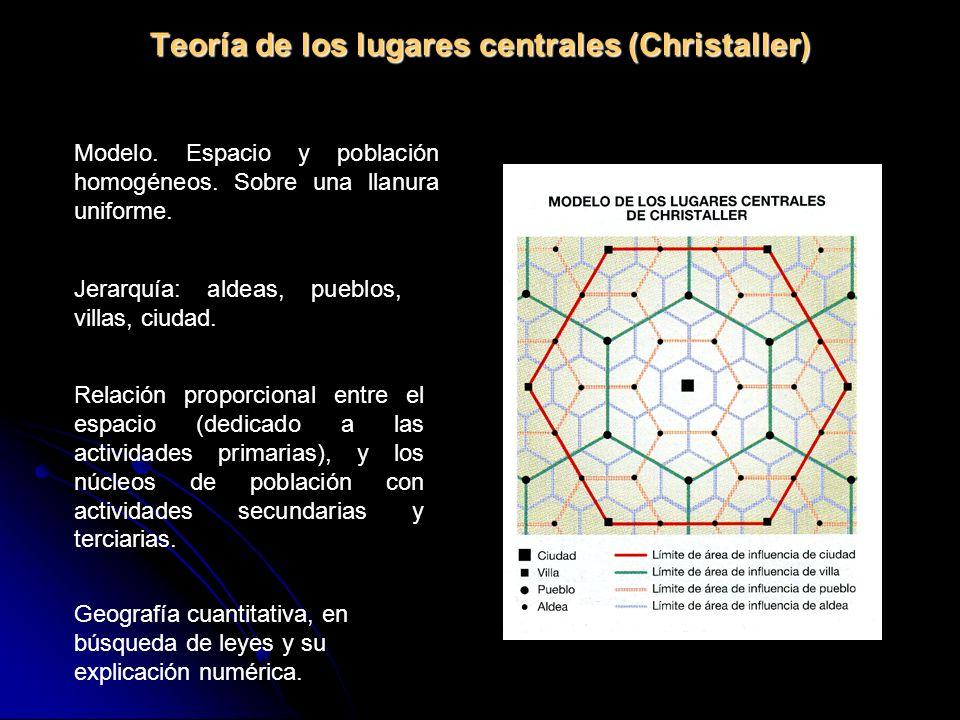 Teoría de los lugares centrales (Christaller)
