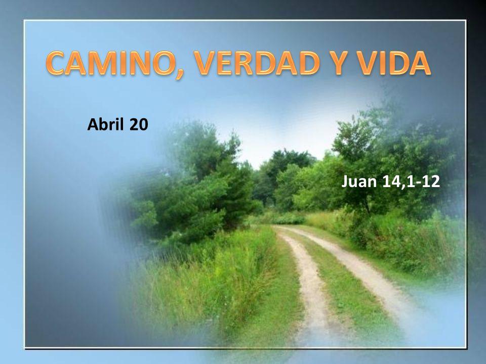 CAMINO, VERDAD Y VIDA Abril 20 Juan 14,1-12