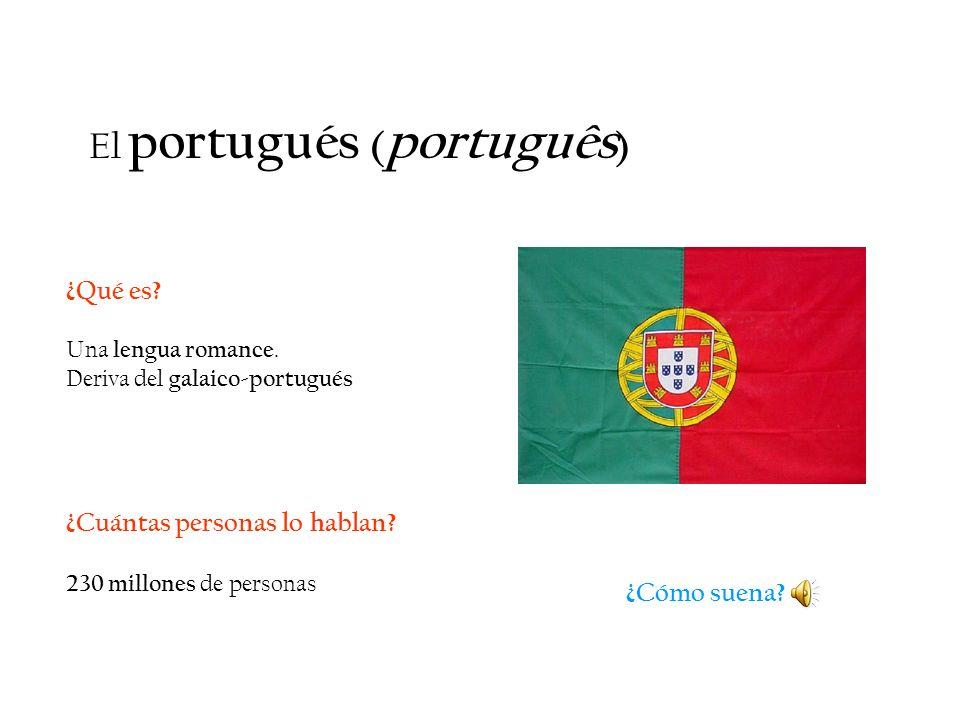El portugués (português)