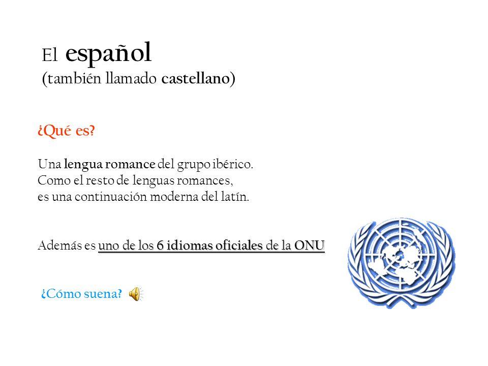 El español (también llamado castellano) ¿Qué es