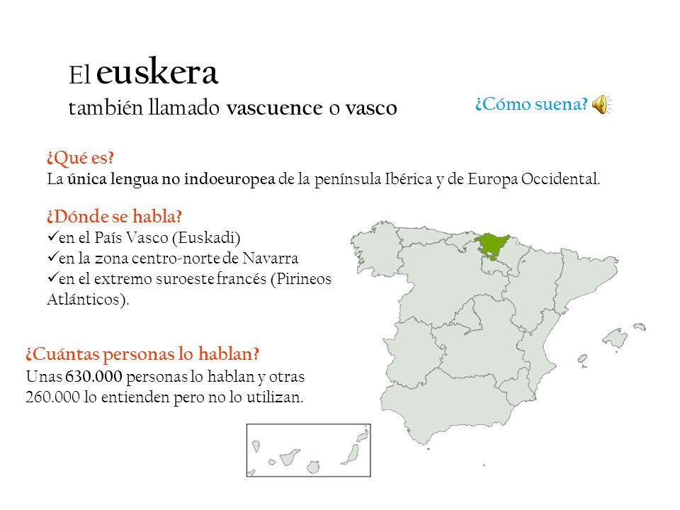 El euskera también llamado vascuence o vasco ¿Cómo suena ¿Qué es