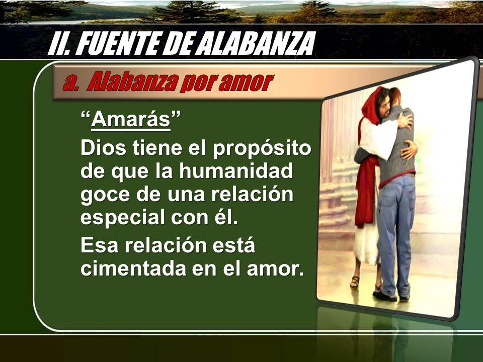 II. FUENTE DE ALABANZA a. Alabanza por amor