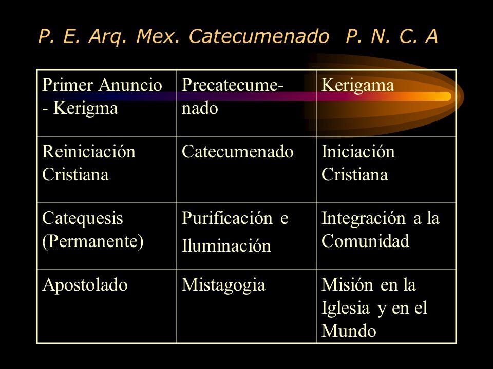 P. E. Arq. Mex. Catecumenado P. N. C. A