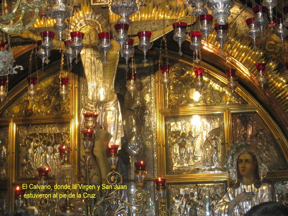 El Calvario, donde la Virgen y San Juan