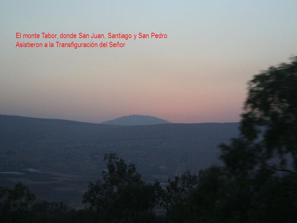 El monte Tabor, donde San Juan, Santiago y San Pedro