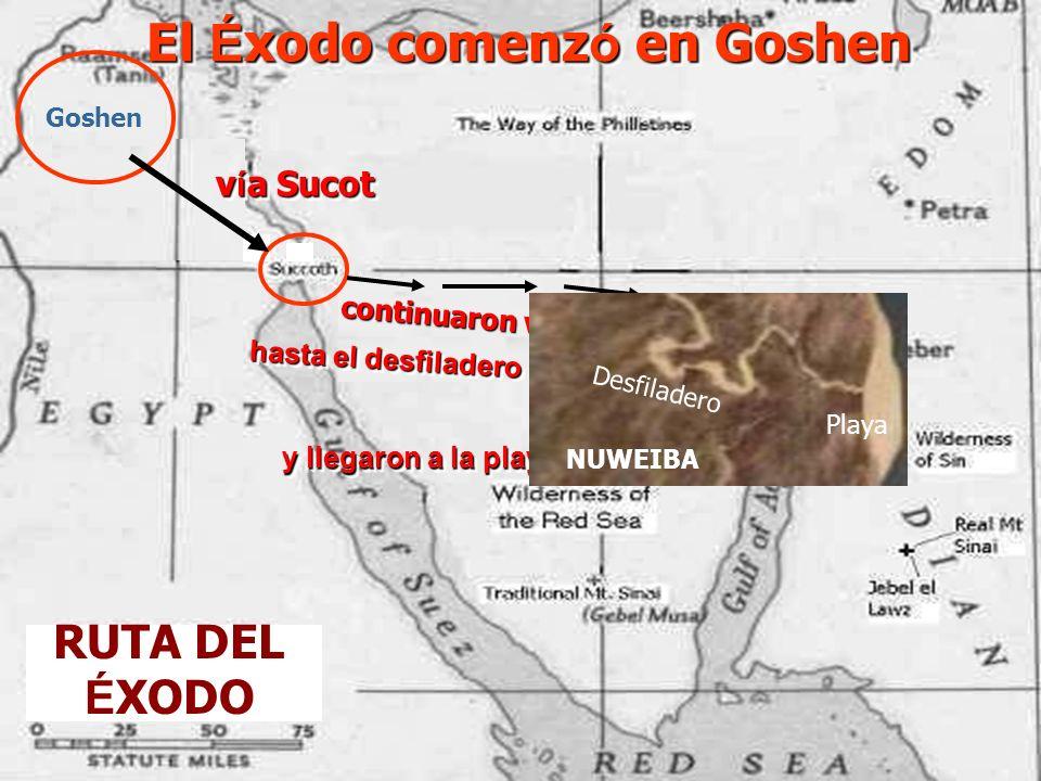 El Éxodo comenzó en Goshen