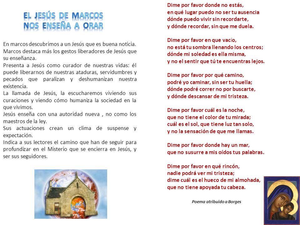 El Jesús de marcos Nos enseña a orar