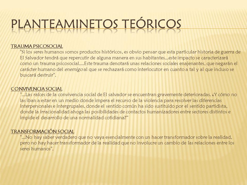 PLANTEAMINETOS TEóRICOS