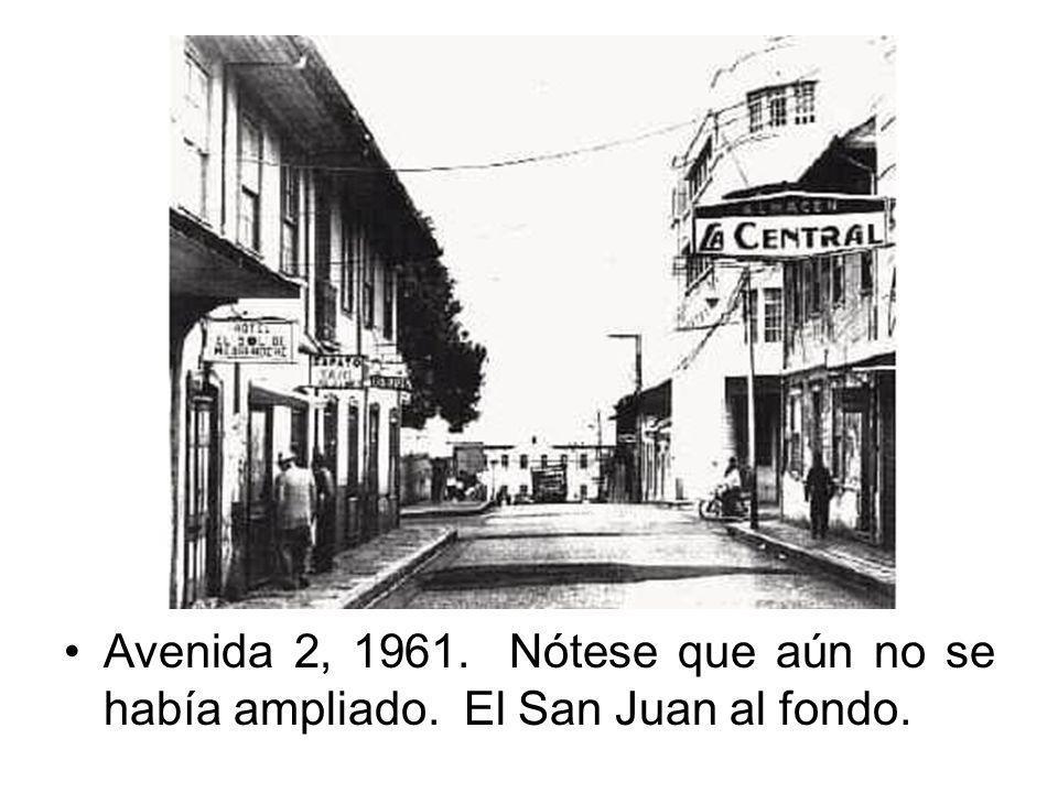 Avenida 2, 1961. Nótese que aún no se había ampliado