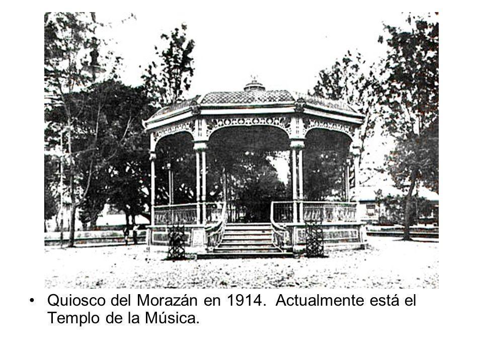 Quiosco del Morazán en 1914. Actualmente está el Templo de la Música.