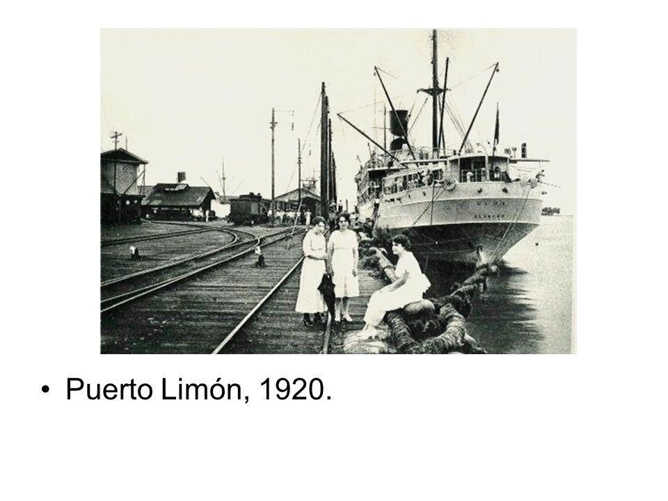 Puerto Limón, 1920.
