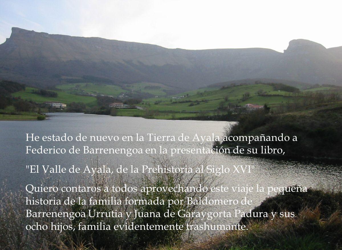 He estado de nuevo en la Tierra de Ayala acompañando a Federico de Barrenengoa en la presentación de su libro,