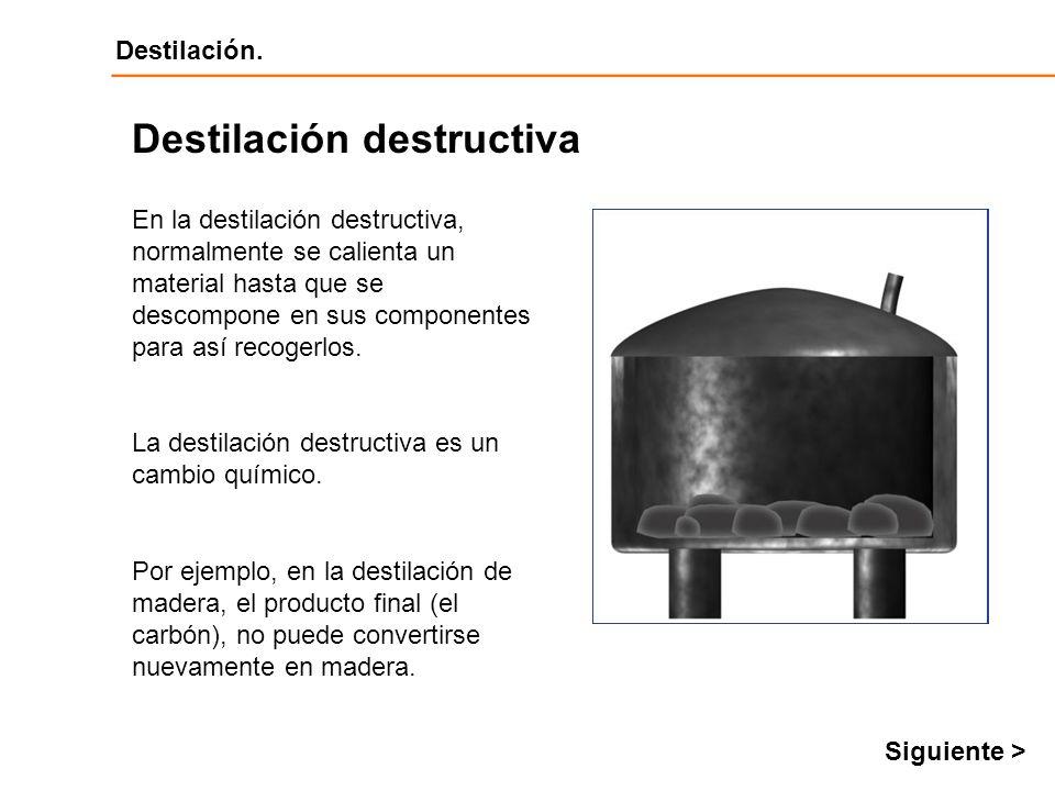 Destilación destructiva