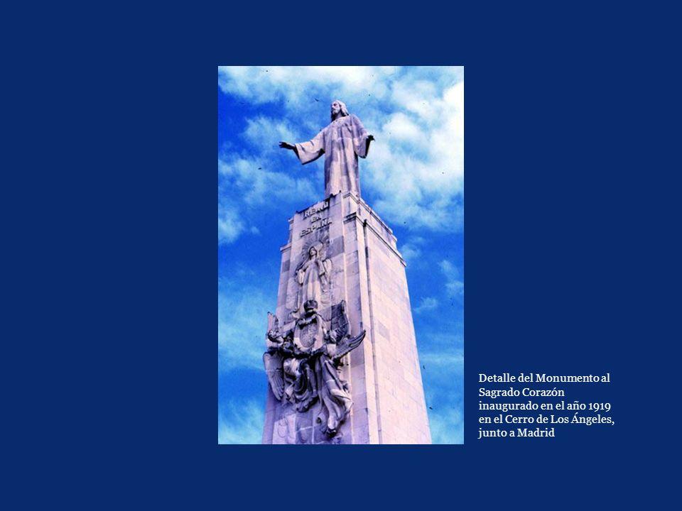 Detalle del Monumento al Sagrado Corazón inaugurado en el año 1919 en el Cerro de Los Ángeles, junto a Madrid