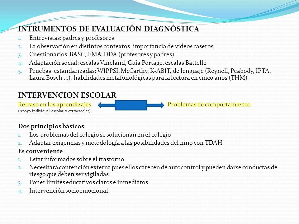 INTRUMENTOS DE EVALUACIÓN DIAGNÓSTICA