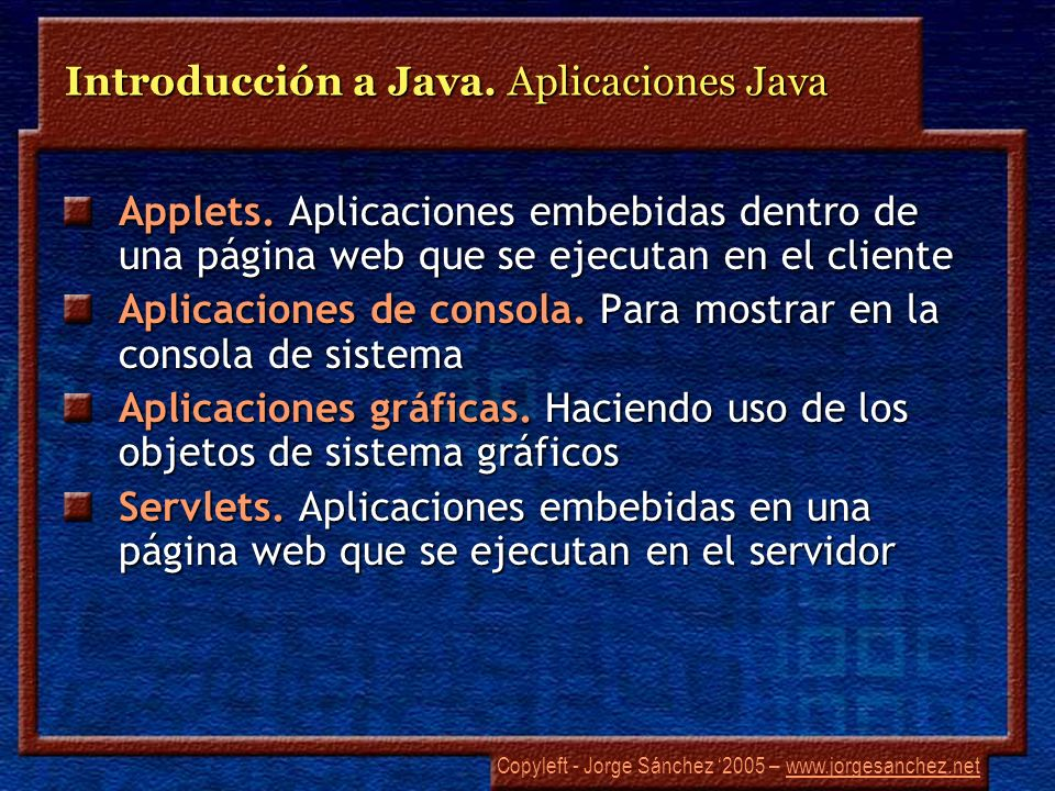 Introducción a Java. Aplicaciones Java