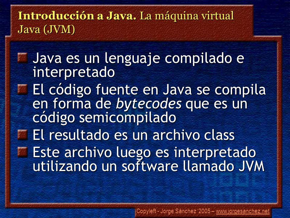 Introducción a Java. La máquina virtual Java (JVM)