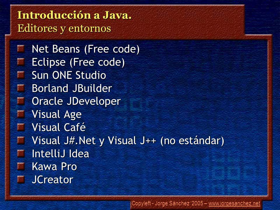 Introducción a Java. Editores y entornos