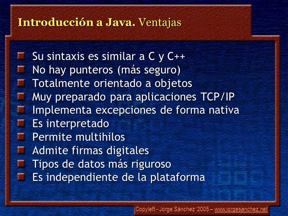 Introducción a Java. Ventajas