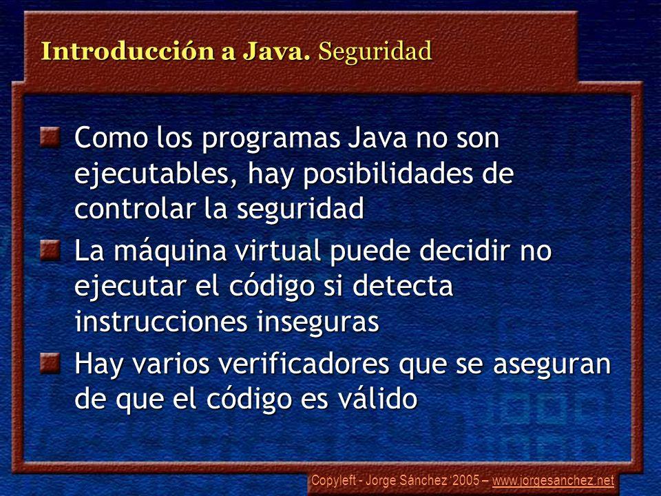 Introducción a Java. Seguridad