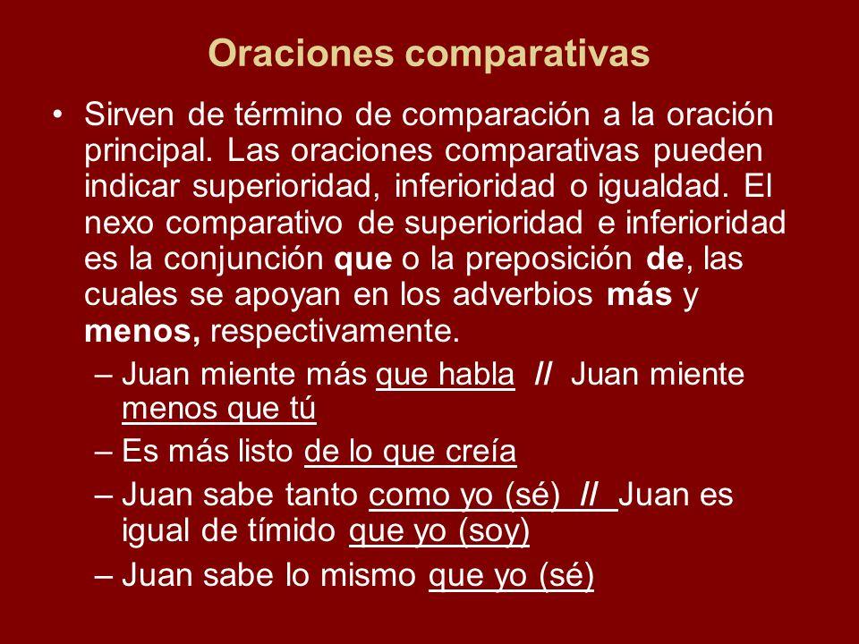 Oraciones comparativas