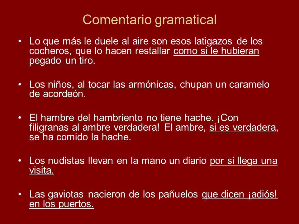 Comentario gramatical