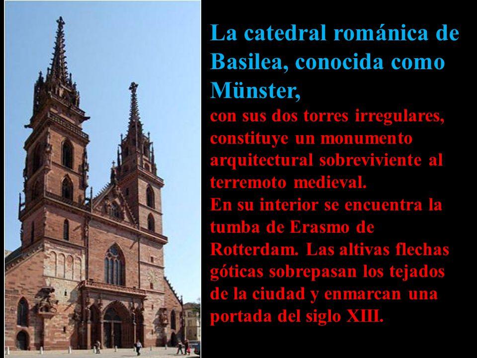 La catedral románica de Basilea, conocida como Münster,