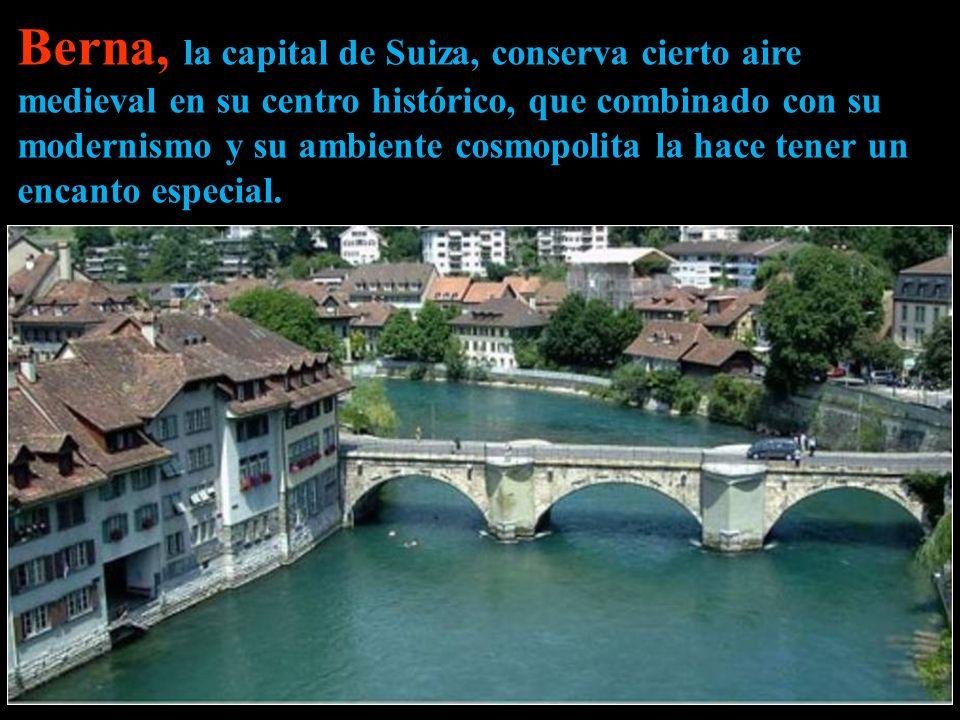 Berna, la capital de Suiza, conserva cierto aire medieval en su centro histórico, que combinado con su modernismo y su ambiente cosmopolita la hace tener un encanto especial.