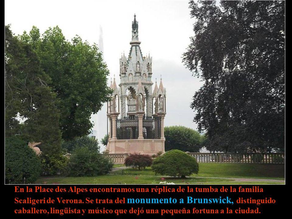 En la Place des Alpes encontramos una réplica de la tumba de la familia Scaligeri de Verona.